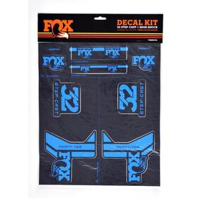Fox Racing Shox AM Step-Cast Aufkleber-Set schwarz/blau